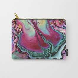 Colorful abstract marbling Carry-All Pouch