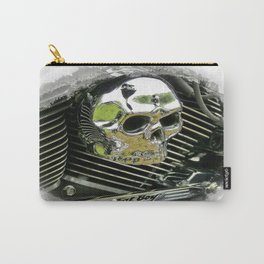 Motorcycle Skull Carry-All Pouch