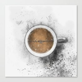 Coffee Heartbeat Canvas Print