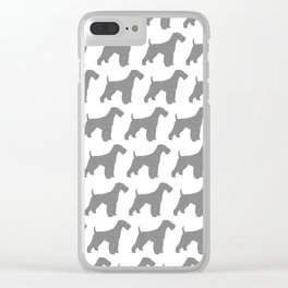 Airedale Terrier Silhouette(s) Clear iPhone Case