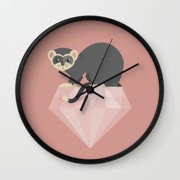 14 Ferret Diamond Wall Clock