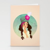 bohemian Stationery Cards featuring Bohemian by Kit Seaton