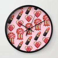 feminist Wall Clocks featuring Feminist by King Sophie's World