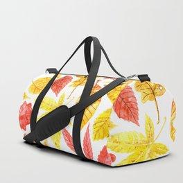 Atumn leaves watercolor Duffle Bag