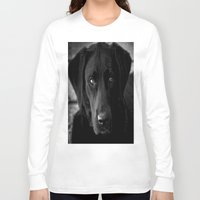 lab Long Sleeve T-shirts featuring Loyalty  Black Lab  by Peggy Franz   Photography   FranzsFeatur