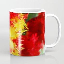 Curly Tulip Red And Yellow Coffee Mug