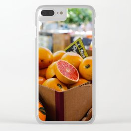 Grapefruits Clear iPhone Case