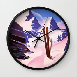 Bansko Bulgaria To Ski Wall Clock