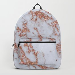 Intense rose gold marble Backpack