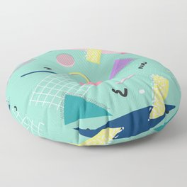 Dreaming 80s Pattern #society6 #decor #buyart Floor Pillow