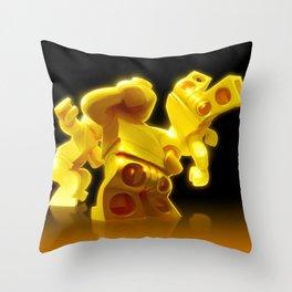 Yellow Butts Throw Pillow