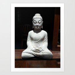 Statue Of The God Buddha Art Print
