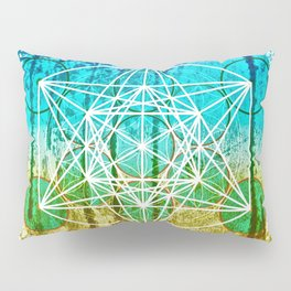The Flower of Life & Metatron's Cube - The Rainbow Tribe Collection Pillow Sham