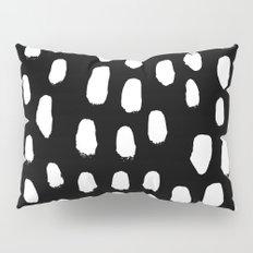 Spots black and white minimal dots pattern basic nursery home decor patterns Pillow Sham