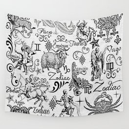 ZODIAC CANVAS CALLIGRAPHY Wall Tapestry