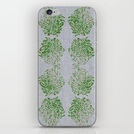 Green and Pink Paisley flowers iPhone Skin