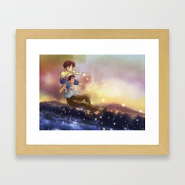 grave of the fireflies - fan art Framed Art Print