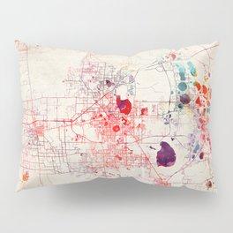 Lakeland map Florida painting Pillow Sham