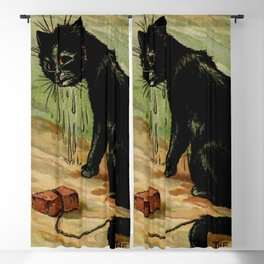 """""""The 9th Life"""" by Louis Wain Blackout Curtain"""