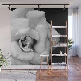 Rose Monochrome Wall Mural