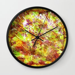 Subtle Number 12 - Bold Textural Expressionist Abstract Mixed Media Painting by Mark Compton Wall Clock