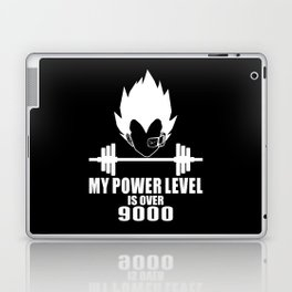 my power level is over 9000 Laptop & iPad Skin