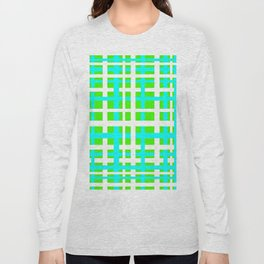 Green & Aqua Interlocking Stripes Long Sleeve T-shirt