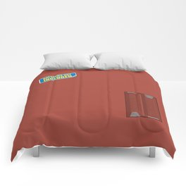 Batteries Not Included ~ Medium Carmine Comforters