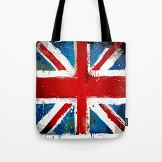 Grungy UK flag Tote Bag