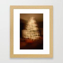 Christmas Tree - Cross Framed Art Print