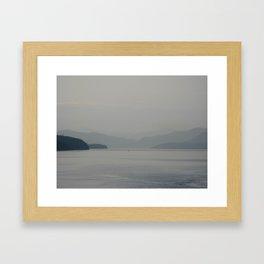 Misty Coast Framed Art Print