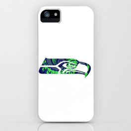 SeaHawks Fractal iPhone Case