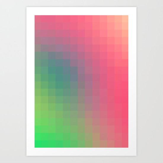 Bright Color Trend Art Print