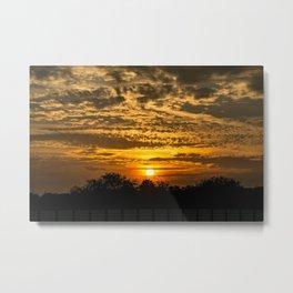 Rooftop Sunset Metal Print