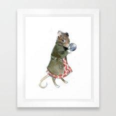 Ms. Mouse Framed Art Print