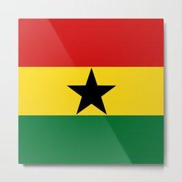 Ghana Flag Metal Print