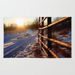 Winter on the Farm Rug