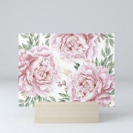 Coral Watercolor Roses Mini Art Print