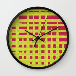 Red and yellow color patterns always stands out to me Wall Clock