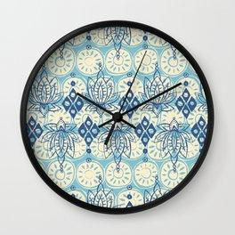 lotus diamond blue Wall Clock