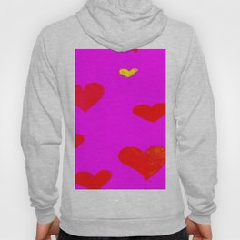 Red and Pink Falling Hearts Hoody
