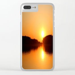 Beautiful Sunset Summer Atmosphere #decor #society6 Clear iPhone Case