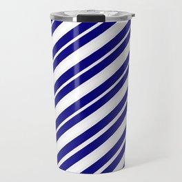 TEAM COLORS 1...Blue and white Travel Mug