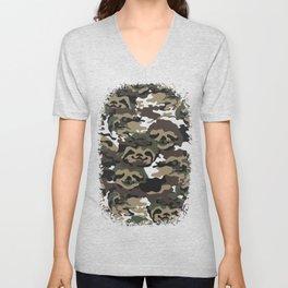 Sloth Camouflage Unisex V-Neck