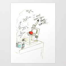 I don't know how love works Art Print