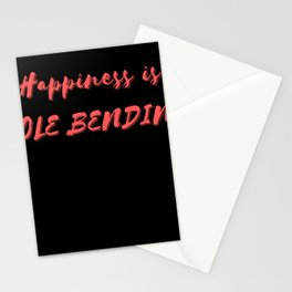 Happiness is Pole Bending Stationery Cards