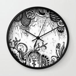 But swift as dreams, myself I found Wall Clock