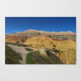 Colorful Badlands Landscape Canvas Print