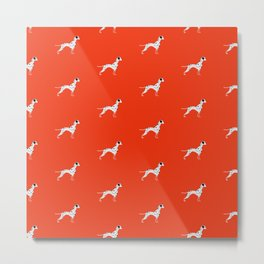 DALMATIANS ((cherry red)) Metal Print