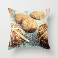 cookies Throw Pillows featuring Cookies by Leonor Saavedra